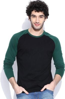 Cult Fiction Solid Men's Round Neck Dark Green T-Shirt