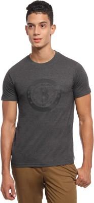 Griffin Sport Solid Men's Round Neck Grey T-Shirt