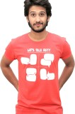Justees Printed Men's Round Neck Red T-S...