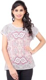 Pear Blossom Printed Women's Round Neck ...