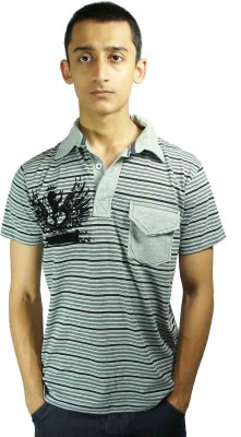 Bluedge Striped Men's Polo Neck Multicolor T-Shirt