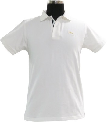 JUMP USA Solid Men's Polo White T-Shirt