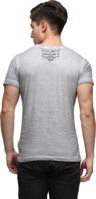 UJC Graphic Print Men's Round Neck Grey T-Shirt