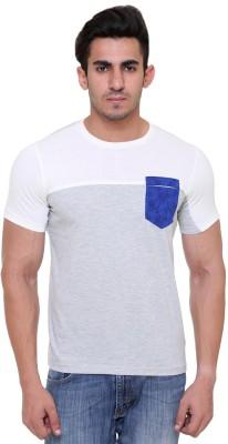 FREE RUNNER Printed Men's Round Neck White T-Shirt