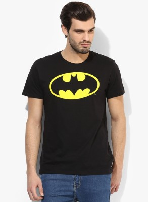 Tripr Printed Men's Round Neck Black T-Shirt
