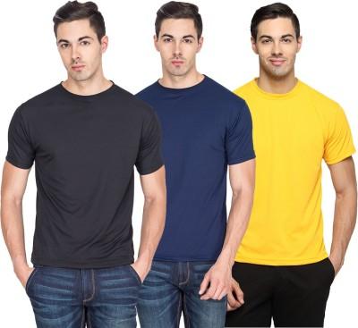 Sulpher Solid Men's Round Neck Multicolor T-Shirt