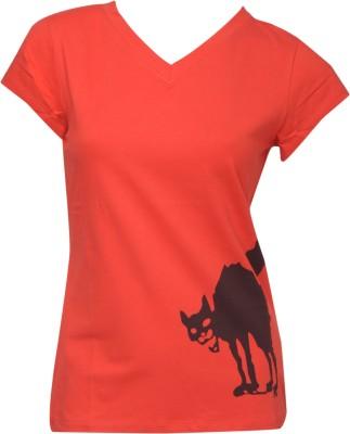 NUN Solid Girl's V-neck T-Shirt