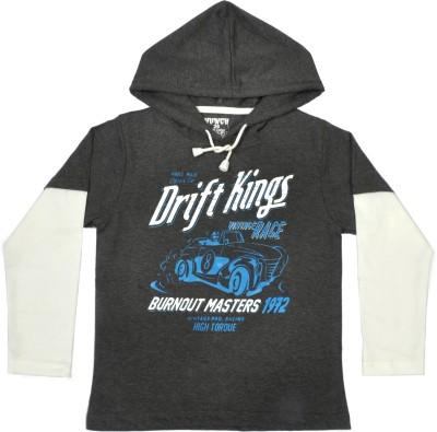 Hunch Graphic Print Boy,s Hooded T-Shirt
