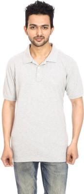 Avantaa Tees Solid, Solid Men,s, Men's Polo Neck, Polo Neck Grey T-Shirt