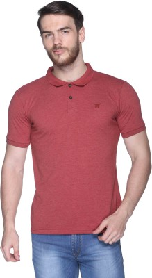 CLUB YORK Solid Men,s Polo Red T-Shirt