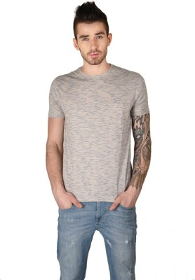 The Glu Affair Solid Men's Round Neck White T-Shirt