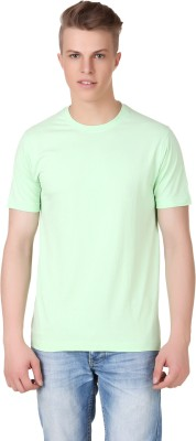 Aventura Outfitters Solid Men's Round Neck Light Green T-Shirt