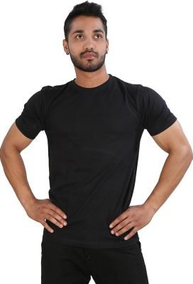 Just Differ Graphic Print Men's Round Neck Black T-Shirt
