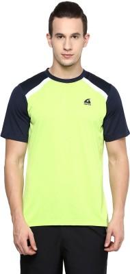 Aurro Solid Men's Round Neck Green T-Shirt