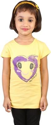 My Little Joy Printed Baby Girl,s Round Neck T-Shirt