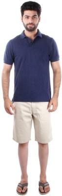 Indian Terrain Solid Men's Flap Collar Neck T-Shirt