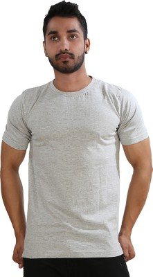 Just Differ Graphic Print Men's Round Neck Grey T-Shirt