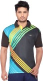 Wolf Printed Men's Polo Neck Multicolor ...