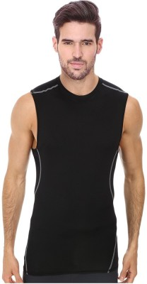 Smart look 7 Solid Men's Round Neck Black T-Shirt