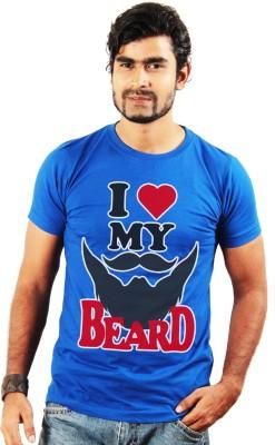 Shopping Monster Printed Men's Round Neck Blue T-Shirt