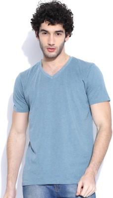 Cult Fiction Solid Men's V-neck Light Blue T-Shirt