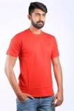 Cortos Solid Men's Round Neck Red T-Shir...