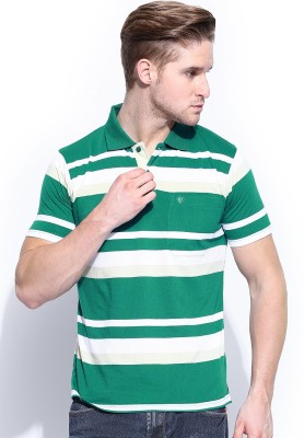 Vivaldi Striped Men's Polo Neck T-Shirt