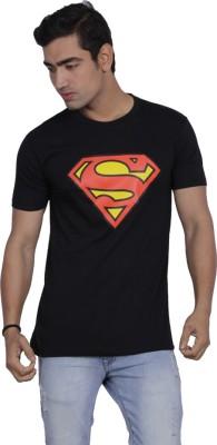 B2 Graphic Print Men's Round Neck Black T-Shirt
