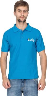 Aziteez Solid Men's Flap Collar Neck T-Shirt