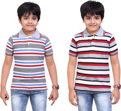 Dongli Striped Baby Boy's Polo Neck T-Shirt
