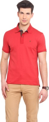 Smokestack Solid Men's Polo Red T-Shirt