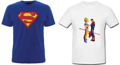 Trendmakerz Graphic Print Men's Round Neck Blue, White T-Shirt
