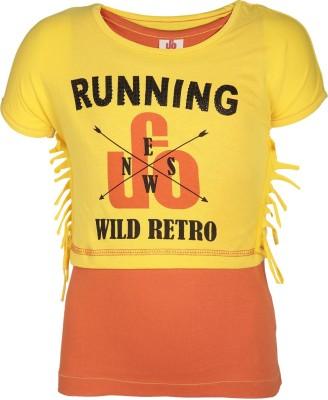 UFO Graphic Print Girl's Round Neck T-Shirt