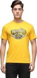 Effit Printed Men's Round Neck Yellow T-...