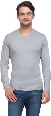Global Nomad Solid Men's V-neck Grey T-Shirt