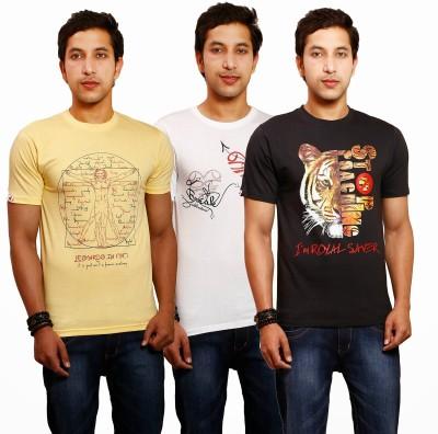 Yaari V4c Printed Men's Round Neck Multicolor T-Shirt