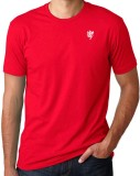 1OhOne Solid Men's Round Neck Red T-Shir...