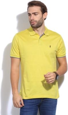 Arrow Newyork Solid Men's Polo Yellow T-Shirt