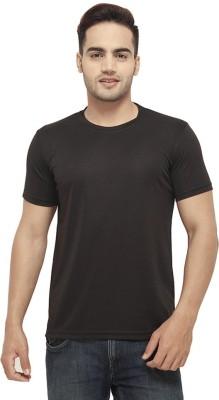 Amla Solid Men's Round Neck Black T-Shirt