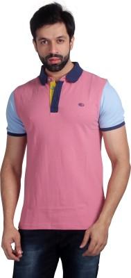 Nostrum Jeans Solid Men's Polo Neck Pink, Light Blue, Blue T-Shirt