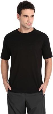 Redzo Solid Men's Round Neck Black T-Shirt