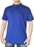 Capricious Solid Men's Fashion Neck Blue...