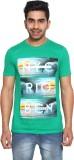 Le Bon Ton Printed Men's Round Neck Gree...