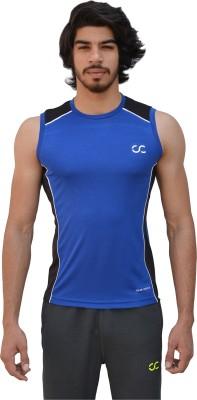 Color Castle Solid Men's Round Neck Light Blue T-Shirt