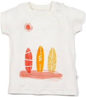 Solittle Graphic Print Boy,s Round Neck White T-Shirt
