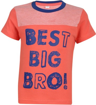 Luke and Lilly Printed Baby Boy's Round Neck Red T-Shirt