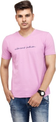 Yuvi Solid Men's V-neck T-Shirt