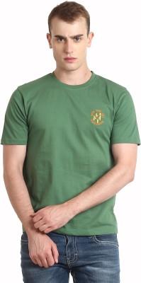 Teen Tees Solid Men,s Round Neck Light Green T-Shirt