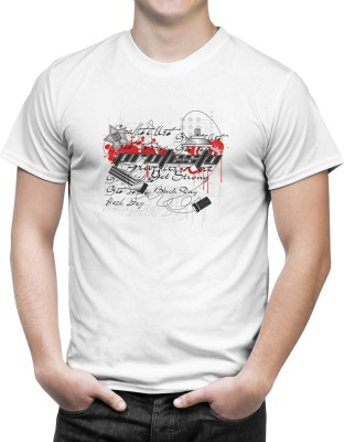 iberrys Printed Men's Round Neck White T-Shirt