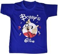 British Terminal Boys Animal Print T Shirt(Blue, Pack of 1)